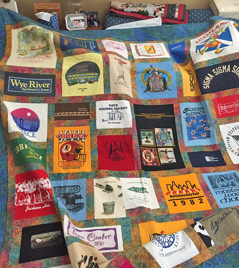 T-Shirt Quilt | Lauren Kingsland | Quilts for Life | One of a Kind Quilts