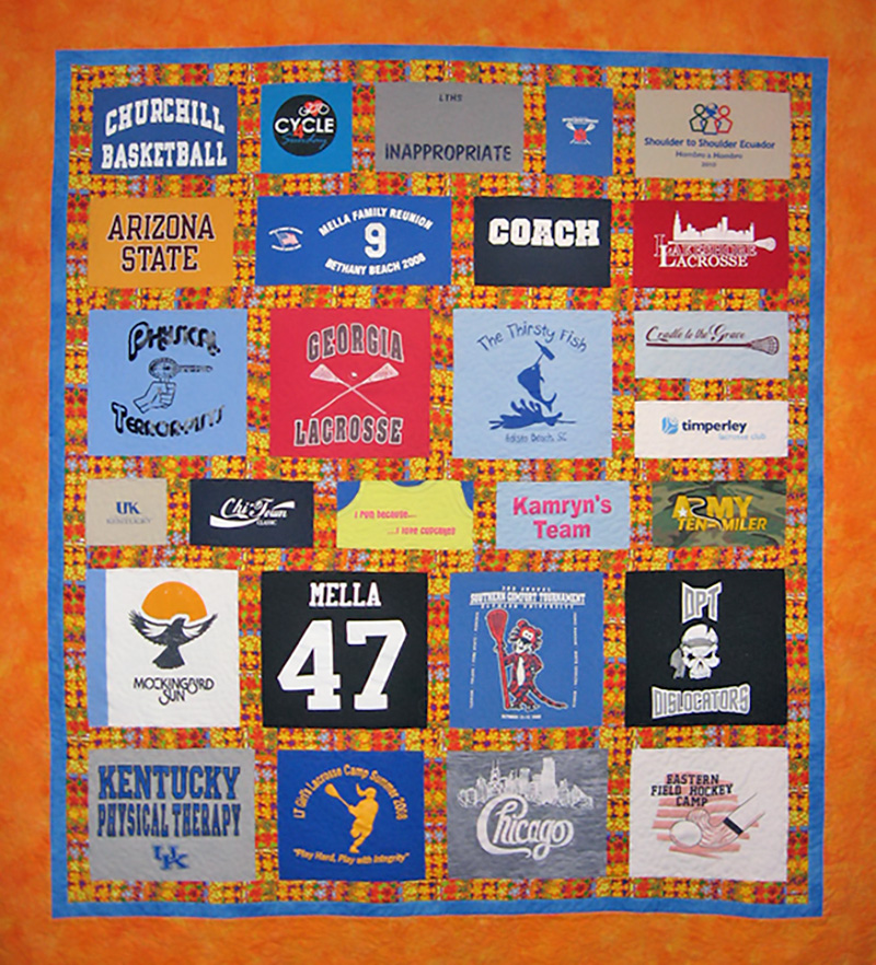 Lauren Kingsland | Quilts for Life | One of a Kind Quilts | T-Shirt Quilt